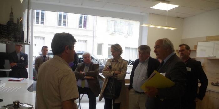 Le président de la Chambre de commerce en visite à Podensac
