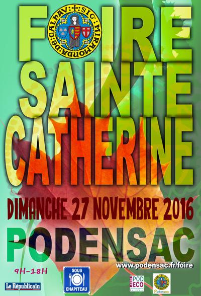 Affiche Foire Sainte Catherine 2016