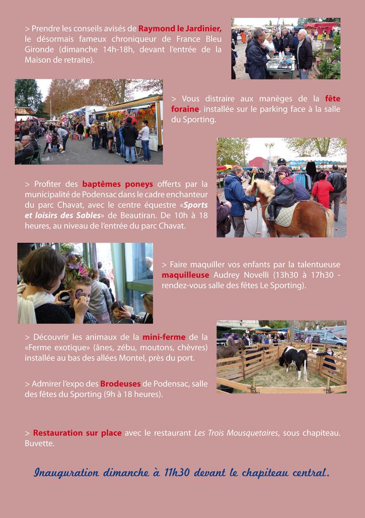 Programme Foire Sainte Catherine 2016